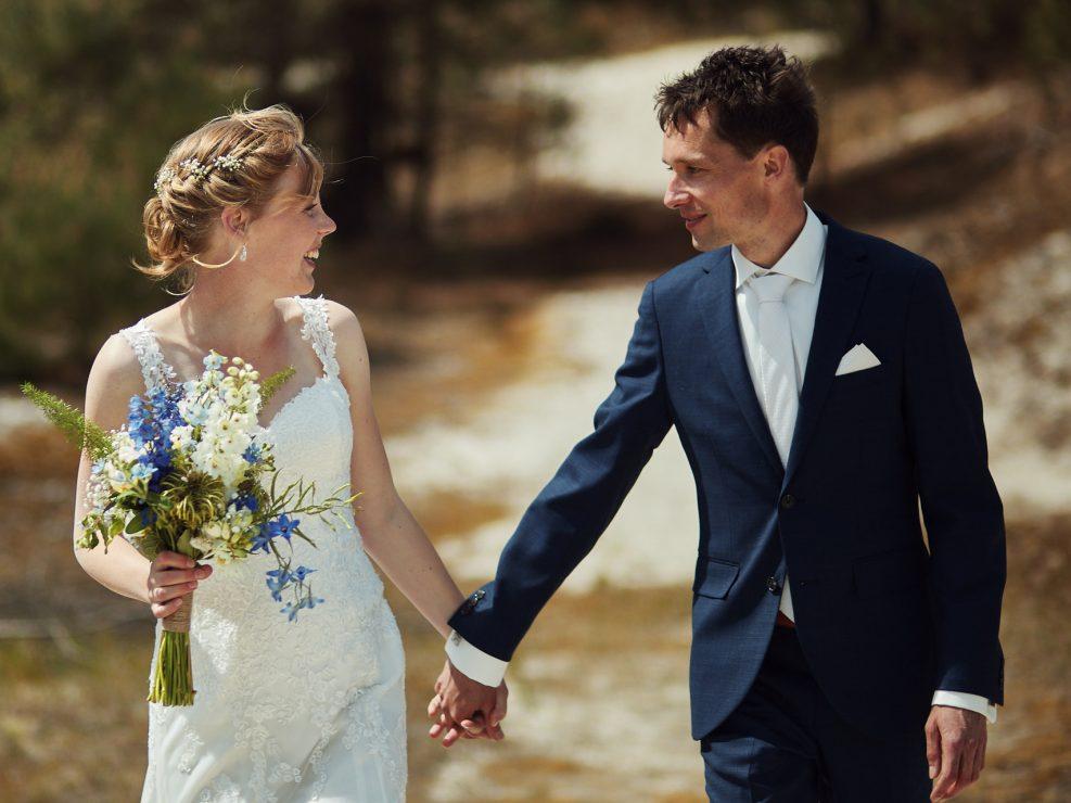 bruidsfotogradie in de duinen