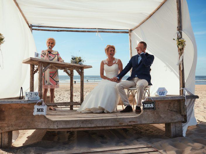 Een trouwreportage op het strand van Castricum aan Zee